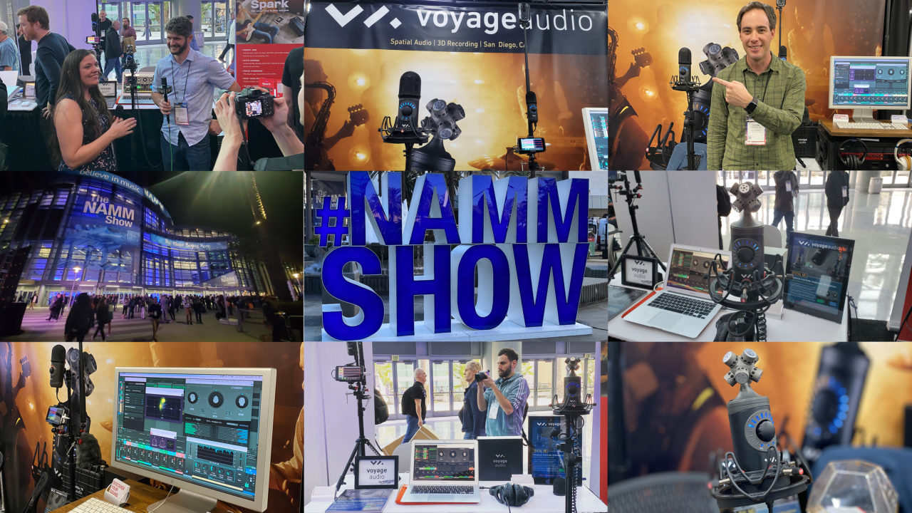 NAMM 2020 Voyage Audio Collage