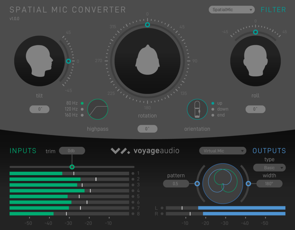 Spatial Mic Converter Plugin Virtual Mic Output
