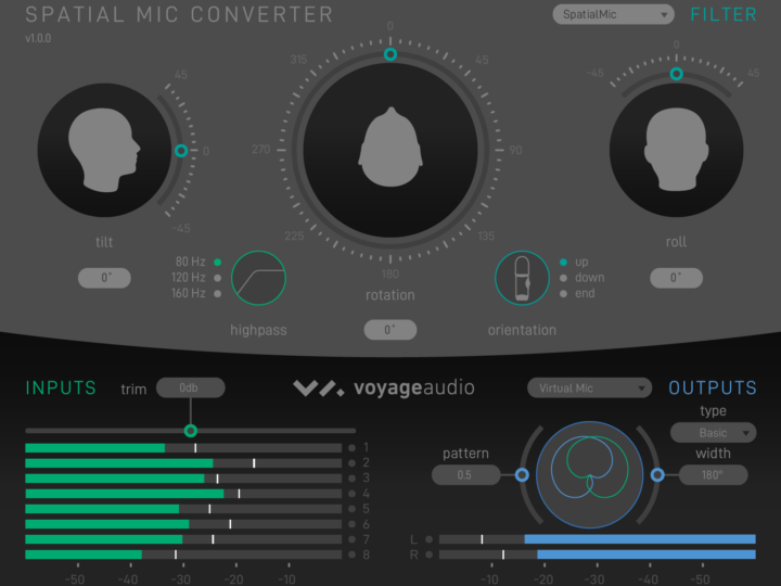 Spatial Mic Converter Plugin & Virtual Mic Output Overview