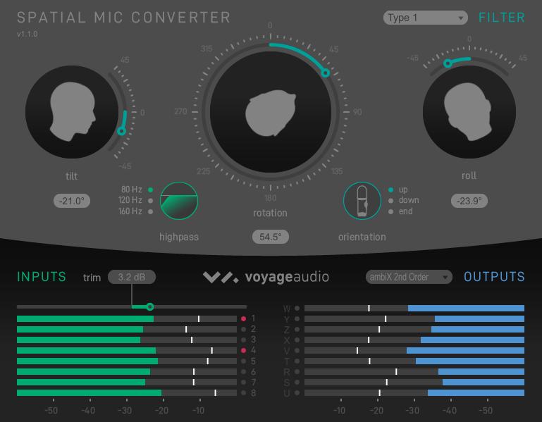 Spatial Mic Converter ambiX output v1.1.0