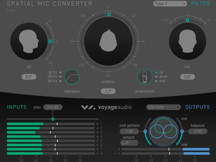 Mid-Side Output Comes To The Spatial Mic Converter Plugin